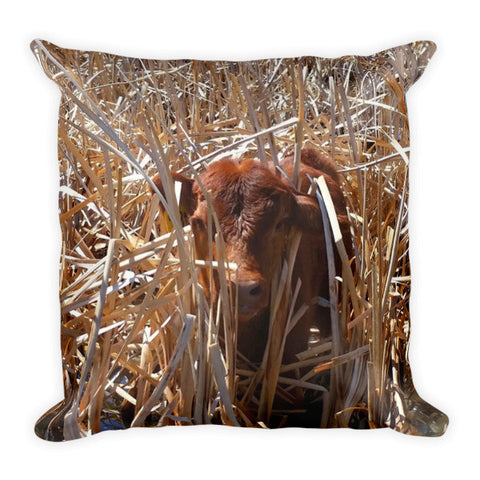 Calftails Cattails Throw Pillow