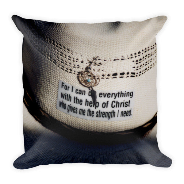 Christian Cowboy Throw Pillow