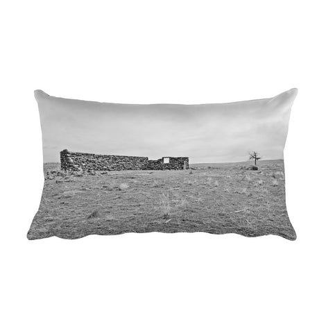 Homestead and Tree Rectangular Pillow