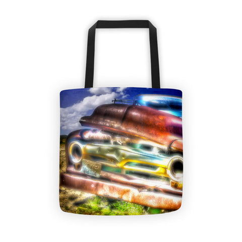 Wyoming Old Chevy Truck Tote bag