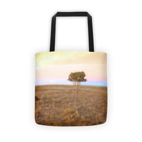 Cedar Tree at Sunset Tote bag