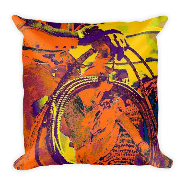 Electric Cowboy Throw Pillow