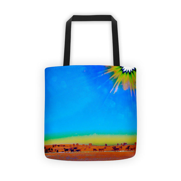 Hay Meadow to Water Tote bag