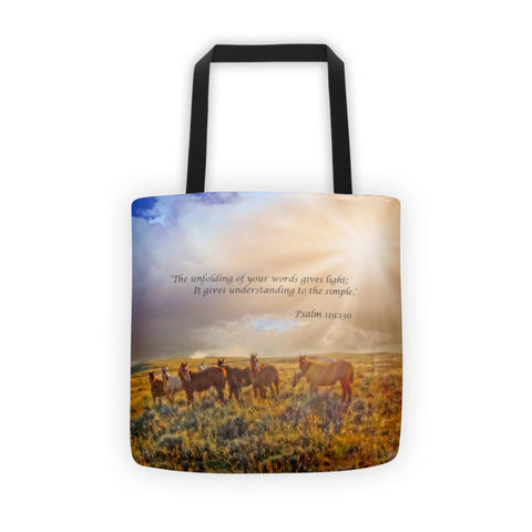 Led by the Light Inspirational Tote bag