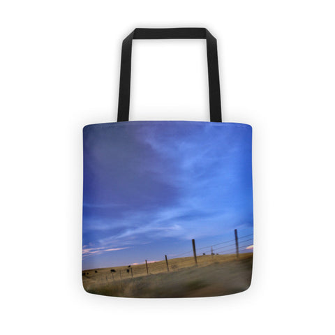 Running the Fenceline Tote bag
