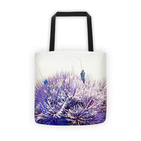 Winter Yucca in Blue Tote bag
