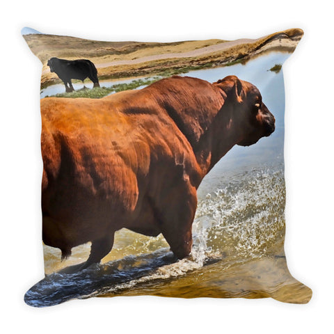 Bullble Bath Throw Pillow