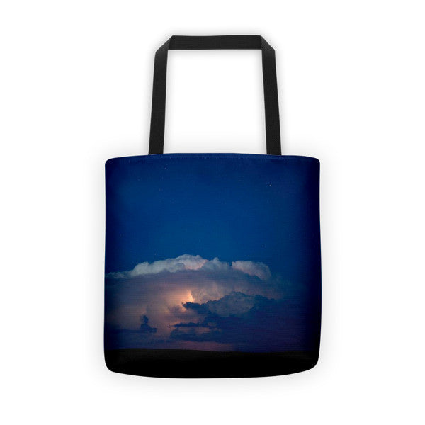 Thunder Boomer Over Wyoming Skies Tote bag