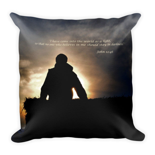 Bucking Hay At Sunrise Inspirational Throw Pillow