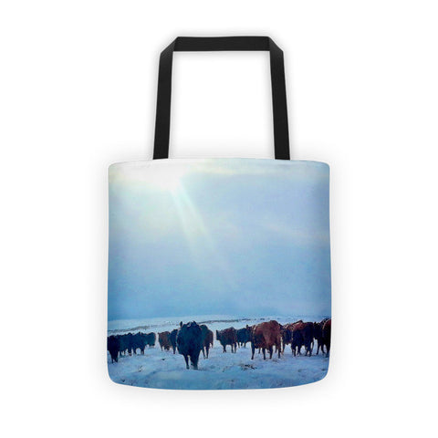 Wyoming Winter Push Tote bag