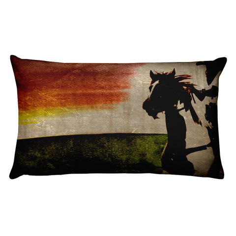 Burning Daylight Rectangular Pillow