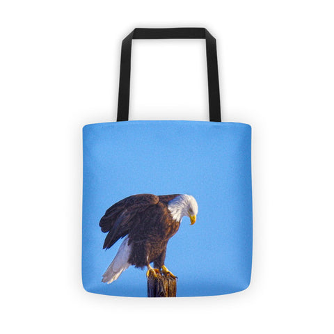 Preparing for Patriotic Flight Eagle Tote bag