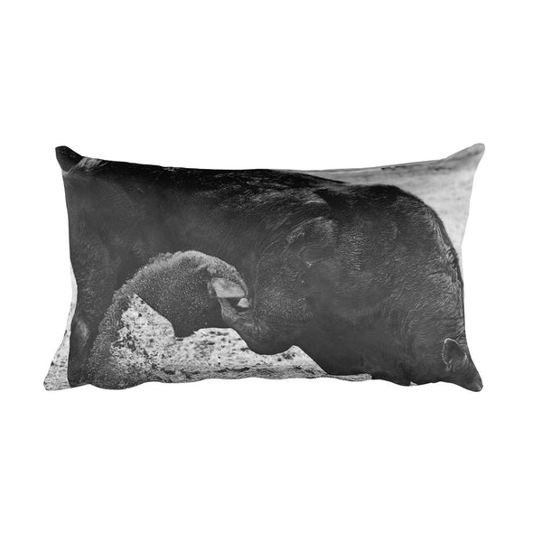 Curl and Wave Rectangular Pillow