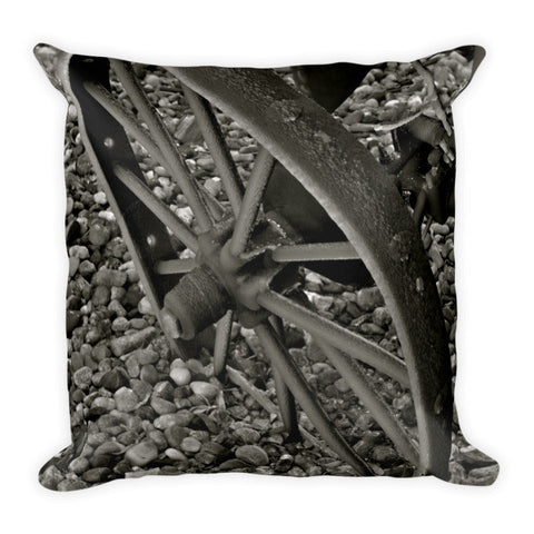 Wagon Wheel On Ice Throw Pillow