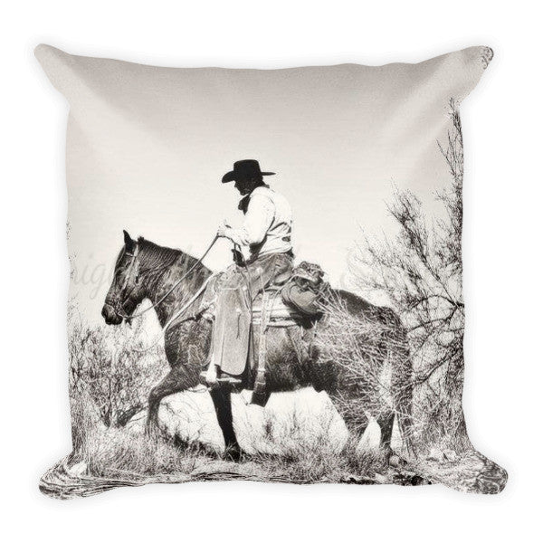 I Went Up to the Mountain Throw Pillow