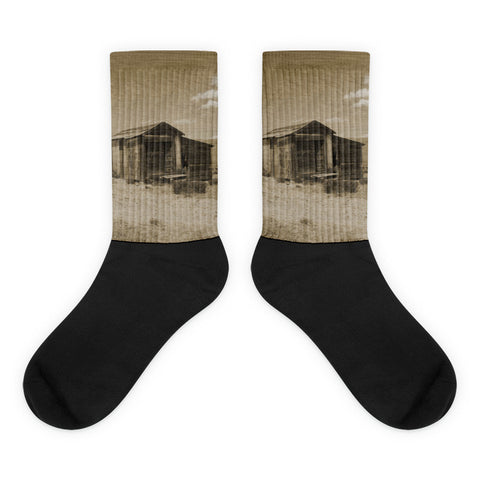 Out on the Prairie - Black foot socks