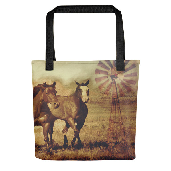 Wild Horses and Windmills Tote bag