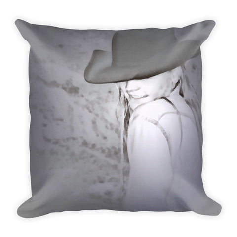 Rainy Day Cowgirl Throw Pillow