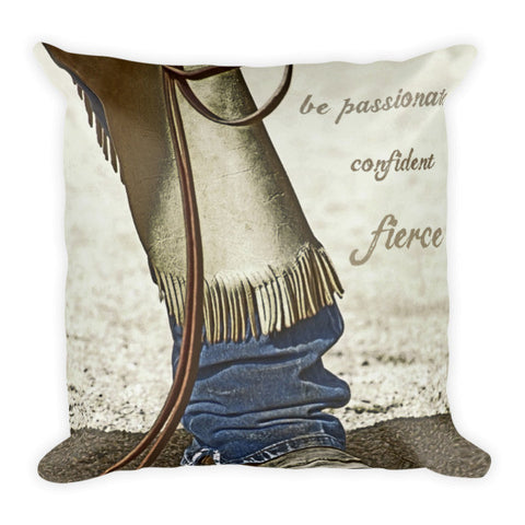 Wyoming Fierce Throw Pillow