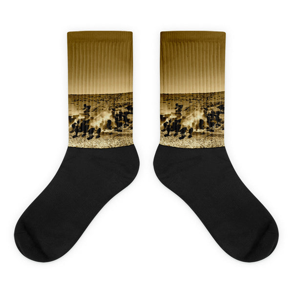Afternoon Delight - Black foot socks