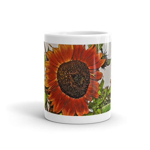 Sunflowers and Storm Mug