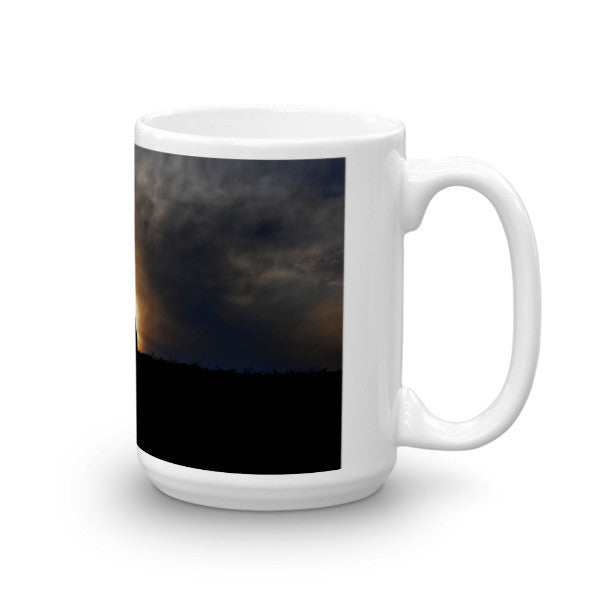 Bucking Hay at Sunrise Mug