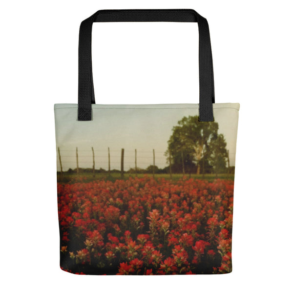 The Red Paint of Texas Tote bag