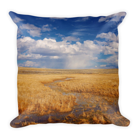 Amber Waves Of Gold Throw Pillow