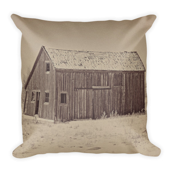 Old Wood Reed's Place Throw Pillow