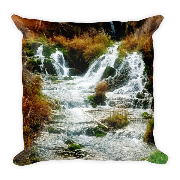 Autumn at Roughlock Falls Throw Pillow