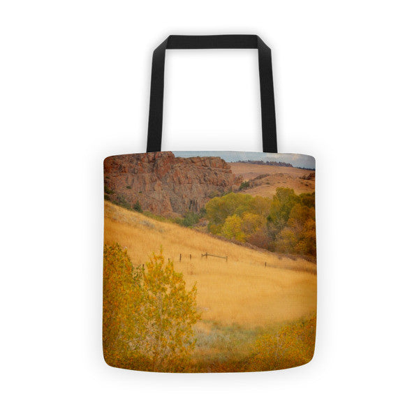 Powder River Fence Tote bag