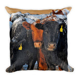 Winter Inquiries Throw Pillow