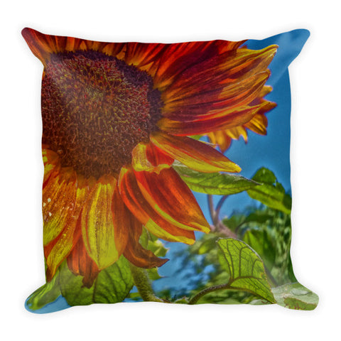 Sunflower Bonnet Throw Pillow