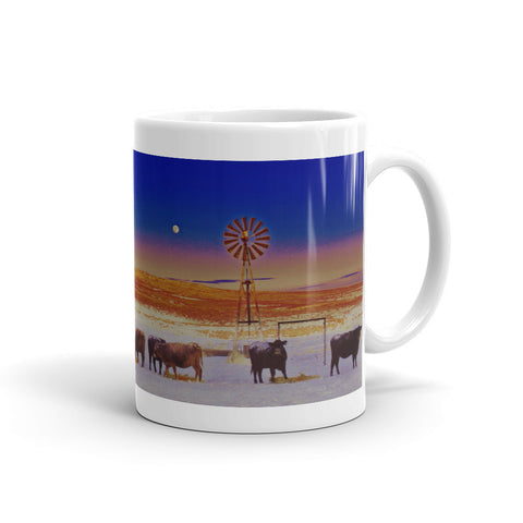 Windmill and Cows Night Feed Mug