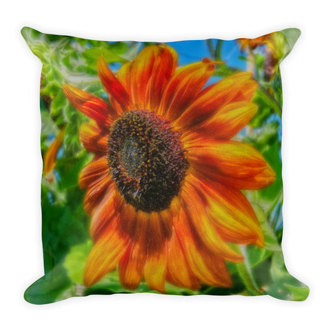 Sun Shower Sunflower Throw Pillow