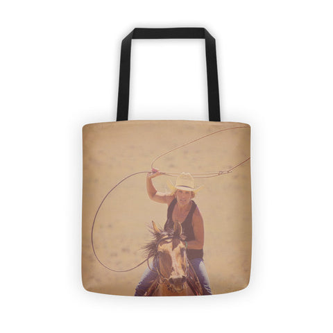 Rope 'em While They're Hot Tote bag