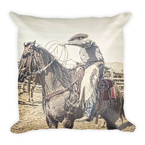 Roped and Ready Throw Pillow