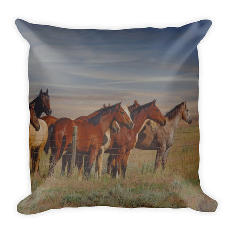 Over The Fenceline Throw Pillow