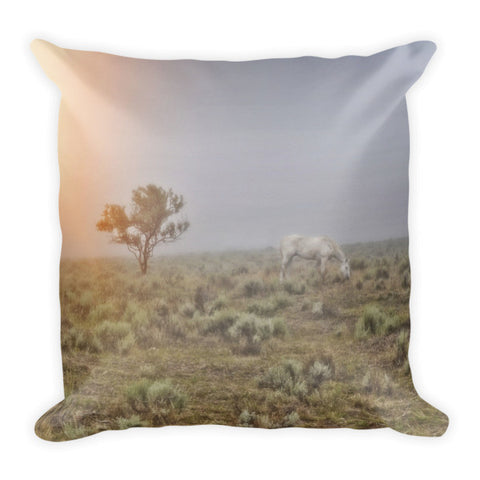 Beggar in the Mist Throw Pillow