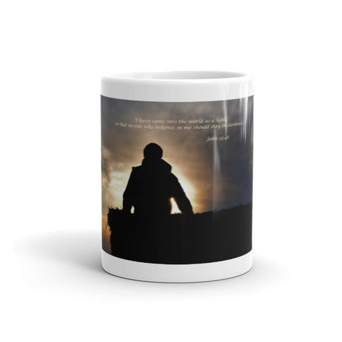 Bucking Hay at Sunrise Inspirational Mug
