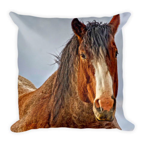 Winter's Edge Throw Pillow