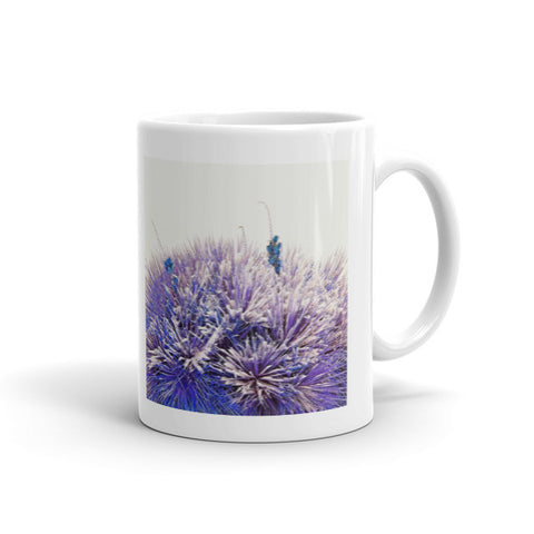 Winter Yucca in Blue Mug