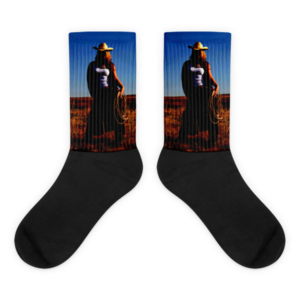 Tougher Than Nails - Black foot socks