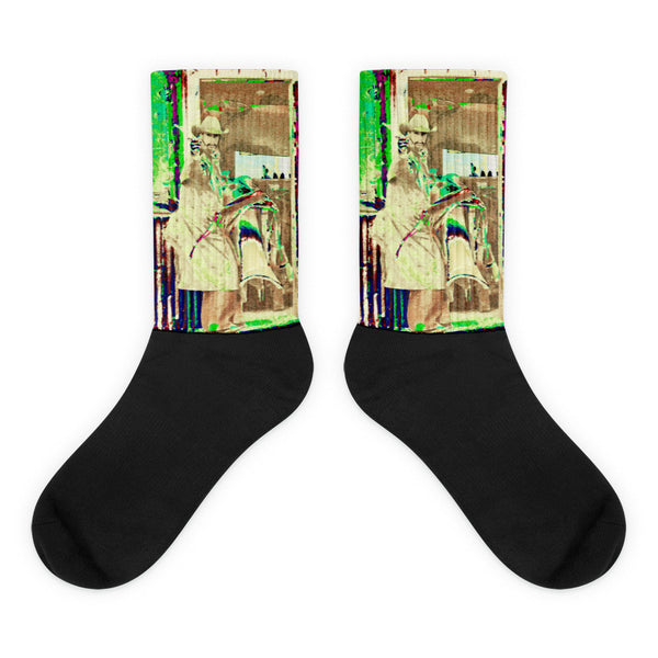 Sometimes Its Fast - Black foot socks