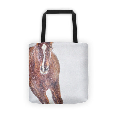 Sundancing in the Snow Tote bag