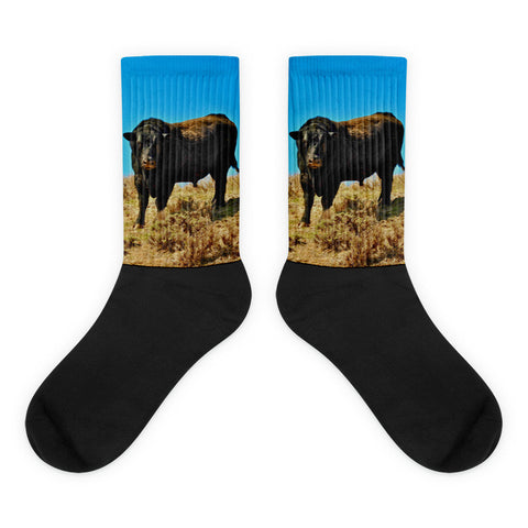 I Dare You - Black foot socks