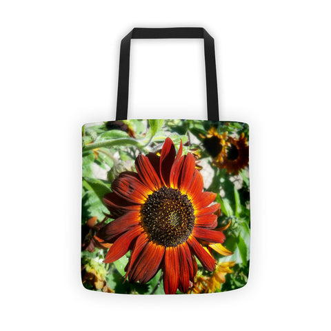 Hearts on Fire Sunflower Tote bag