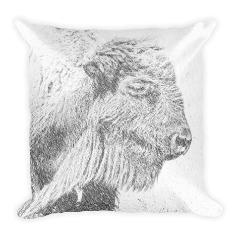 Buffalo Blizzard Throw Pillow