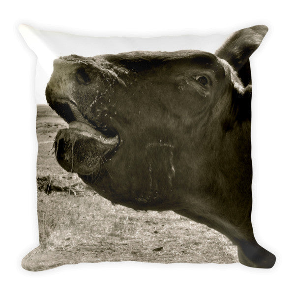 Bull Call Throw Pillow