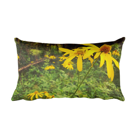 A Walk in the Woods Rectangular Pillow